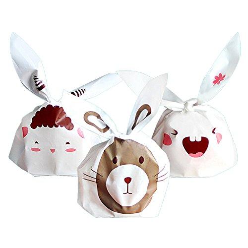 30pcs Plastic Cute Food Package Self-Adhesive Bakery Bags Co