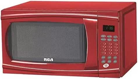RCA RMW1112-RED Red Countertop Microwave (1.1 Cu Ft, 1000 Watts)