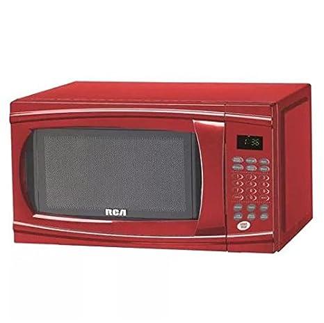 Amazon.com: RCA rmw1112-red Rojo Countertop Microondas (1.1 ...