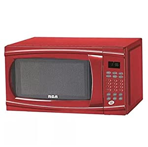 RCA RMW1112-RED 1 : The color is a shiny red which is a wonderful accent piece to the