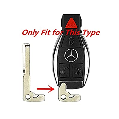 KAWIHEN Uncut Transponder Ignition Key Blank Keyless Remote Key Fob Replacement for Mercedes Benz 4 Buttons IYZ3312: Automotive