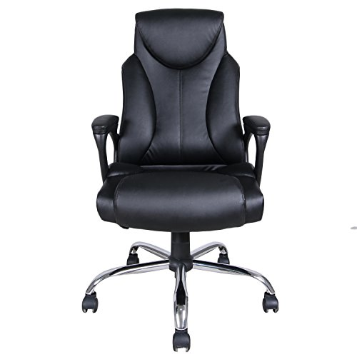 Merax® Black PU Leather High Back Office Chair Executive Ta