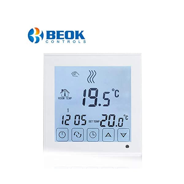Beok Termostato a Batteria per Caldaia a Gas Programmabile Ambiente Termostato de Parete con Digitale LCD Touchscreen… 1 spesavip