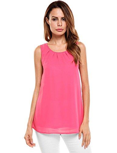 Pink Sleeveless Blouse - 7