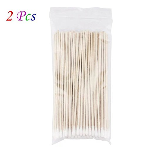Brendacosmetic Pack of 2-100 Pieces Wooden Handle Cotton Swab Sticks,6