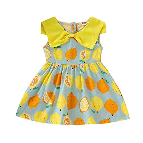 After Six Empire Waist Bridesmaid Dress - LiLiMeng 2019 New Toddler Kid Baby Girl Sleeveless Floral Botany Printed Turndown Ruched Princess Dress Clothes Yellow