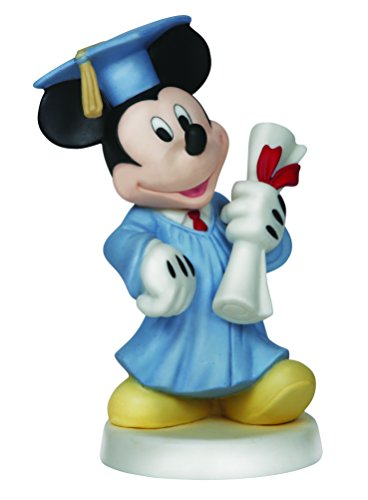 sney Showcase Collection, Congrats! You Did It, Bisque Porcelain Figurine, Mickey Mouse, 144701 (Mickey Mouse Graduate)