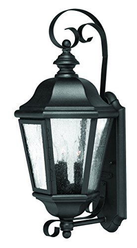Hinkley 1670BK Traditional Three Light Wall Mount from Edgewater collection in Blackfinish, - Edgewater Wall Mount