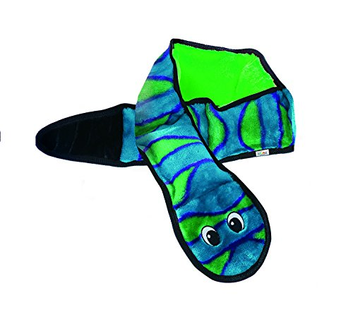 Invincibles Snake Stuffingless Durable Tough Plush Dog Squeaky Toy with Squeakers by Outward Hound