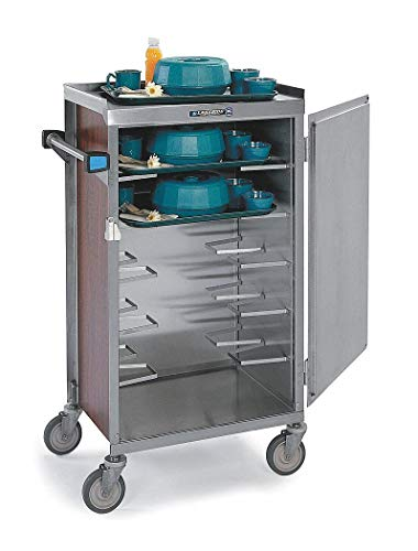 Delivery Cart Meal (Meal Delivery Cart, 17-1/4 x 25-1/8 x 46-7/8', Tray Size (In.): 14 x 18, 15 x 20, 16 x 22, Walnut)