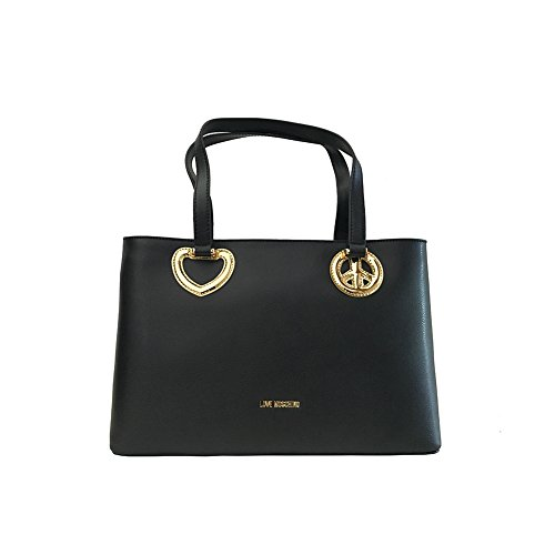 Love Moschino Peace & Love Handtasche black_black x