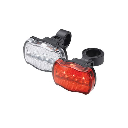 Torch Bright 3X - Faros para bicicleta (delantero y trasero), color blanco y rojo White Bright 3X + Tail Bright 3X