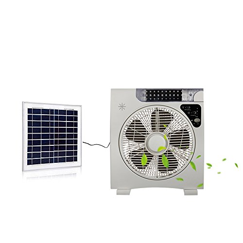 Auto Cool Solar Powered Fan System (12inch Fan Blade) with 15W Solar Panel,Assembly-Free and Electric-Free Easy for Outdoor,Household or Car Camping