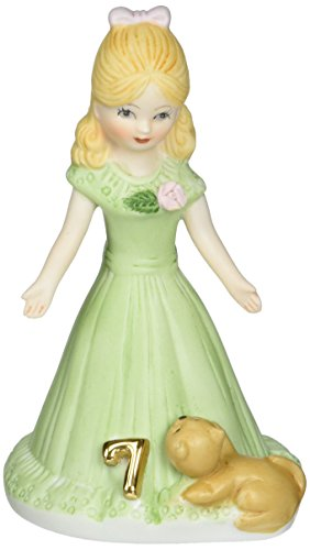 "Enesco Growing Up Girls ""Blonde Age 7"" Porcelain Figurine, 4.5"""