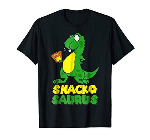 Snackosaurus Funny Cartoon Comic Dinosaur Food Lover -