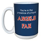 Tree-Free Greetings lm44090 Angels Baseball Fan Ceramic Mug with Full-Sized Handle, 15-Ounce