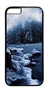 Icy Waters PC Case Cover for iphone 6 4.7inch - Black