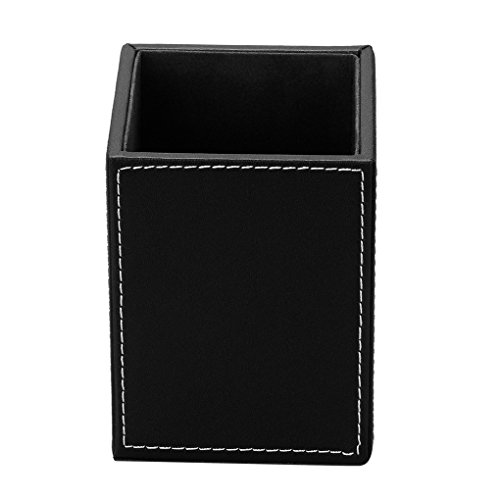 Starsource office PU leather school desk drawer pencil cup organizer sorter tray accessories bussiness card holder