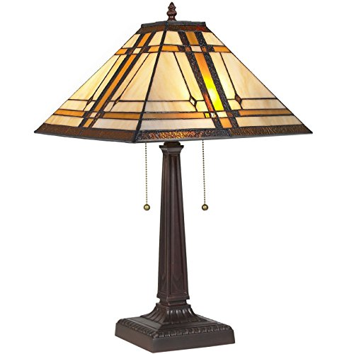 Classy Tiffany Glass Shade Artwork Style Table Reading Lamp Mission Design Looks Good In Your Bed Room Or - Edinburgh Near Outlet