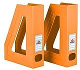 Acrimet Magazine File Holder (Orange Color) (2 Pack)