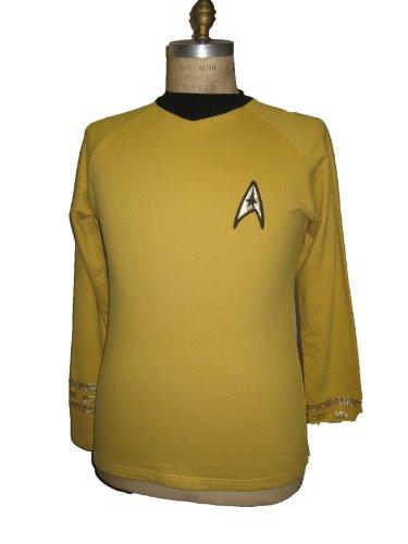 Star Trek (The Original Series) Command Gold Uniform Adult T-Shirt, Medium ()