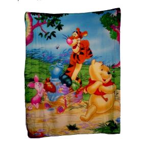 (Northwest Company 50-Inch by 60-Inch Printed Fleece, Winnie the Pooh Sweet Summer Design)