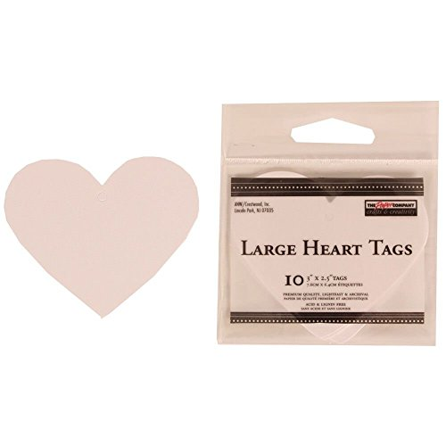 JAM Paper Gifts Tags - Large Heart - 3