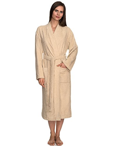 TowelSelections Women's Robe Turkish Cotton Terry Kimono Bathrobe Small/Medium Angora
