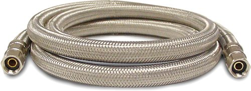 Kissler & Company Inc. 88-6012 Braided Ice Maker Line, 1/4-Inch Compression by 1/4-Inch Compression, Stainless Steel (Steel Stainless Maker Ice Hose)