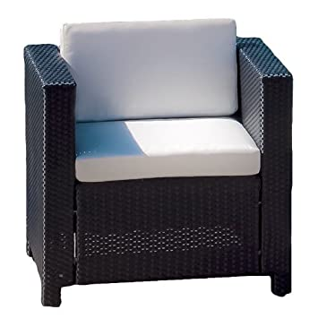 Great Deal Furniture San Antonio Ivory Outdoor Wicker Chair Amazon