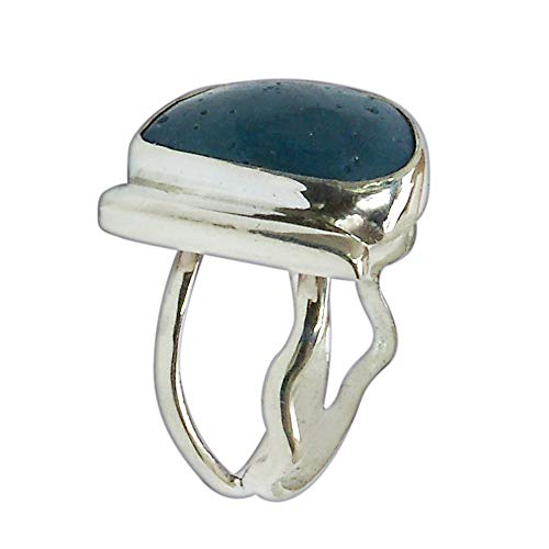(Leland Blue Stone and Sterling Silver Ring, Hand Crafted One of a kind, Size 6-1/4 r625lbsf3017)