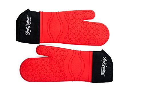 RedLantana Silicone Oven Mitts - Commercial-Grade - Set of 2 (Red, Small/Medium/Youth Size) (Oven Mit Small compare prices)
