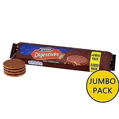 Mcvities Chocolate Con Leche De Mcvitie Digestives 500g Paquete Jumbo (Paquete de ...