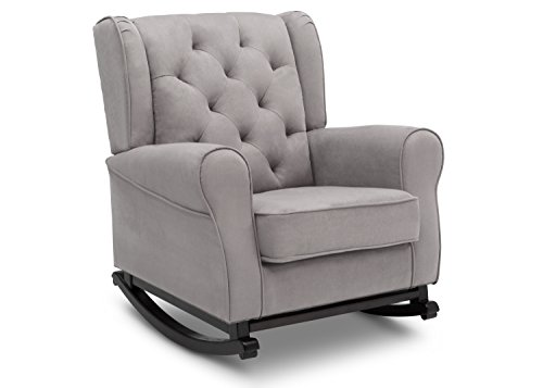 Delta Furniture Emma Upholstered Rocking Chair, Dove Grey (Chairs Rocking Glider)