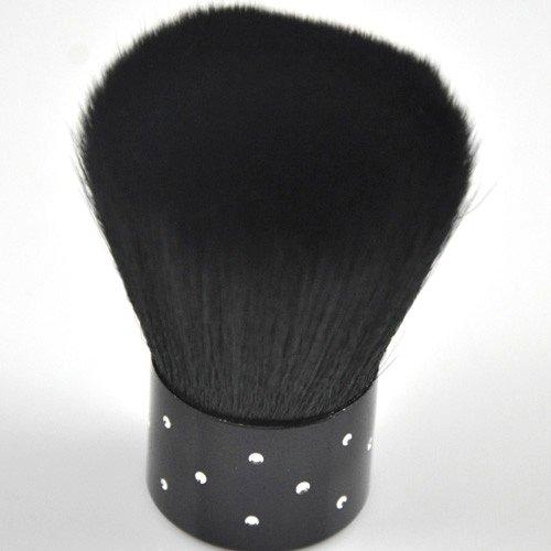 350BUY Black Face Make Up Brush Nail Rhinestones Brush For Acrylic & UV Gel Nail Art Dust Cleaner NEW