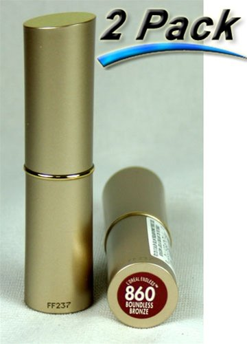 2 Boundless Bronze 860 Loreal Endless Lipstick, Lipcolour Gold Tube - Loreal Endless Lip Color Lipstick