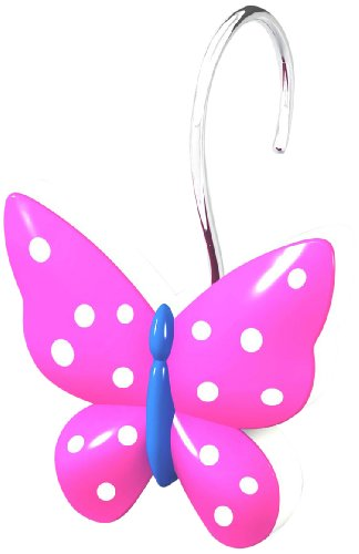 SAM HEDAYA Butterfly Shower Curtain Hooks