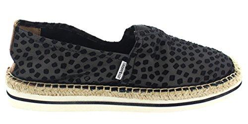 36 51011W On Variations Flats Black Slip Canvas and Espadrille Hemp JOY Loafers Bundle Comfort Casual Leather Women's Shoes MARIO qnTxxtS