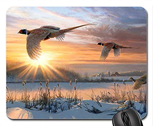 Echonie Pheasants Mouse Pad, Mousepad (Winter Mouse Pad)