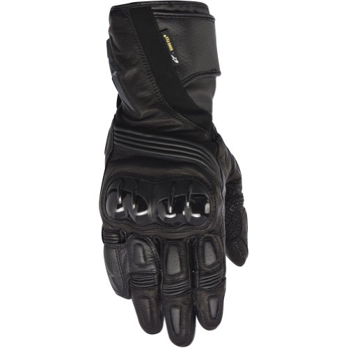 (Alpinestars Archer X-Trafit Men's Leather Street Racing Motorcycle Gloves - Black/Small)