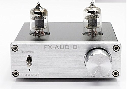 Douk Audio Mini 6J1 Valve & Vacuum Tube Pre-Amplifier Stereo HiFi Buffer Preamp(Silver)