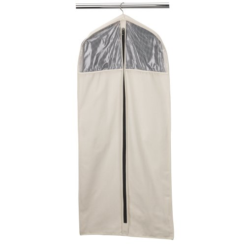 Household Essentials 3392-1 Cedarline Collection Hanging Garment Bag | Dress and Suit Protector | Natural Cotton Canvas