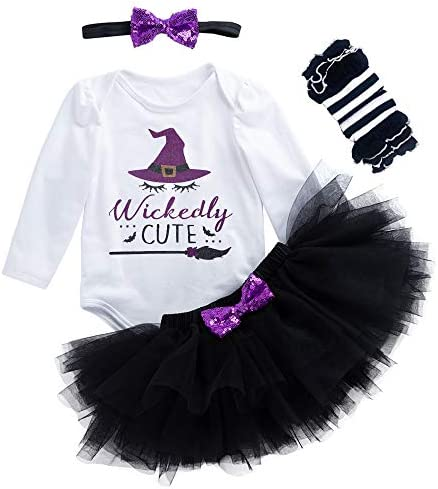Details about  /Baby Girl Kids Halloween Party Tutu Tulle Skirt Fancy Dress Witch Pumpkin Romper