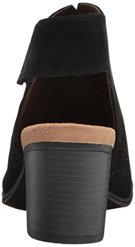 Rockport Women's Hattie Cuff Hi Vamp Heeled Sandal Black Leather v4dJMiH