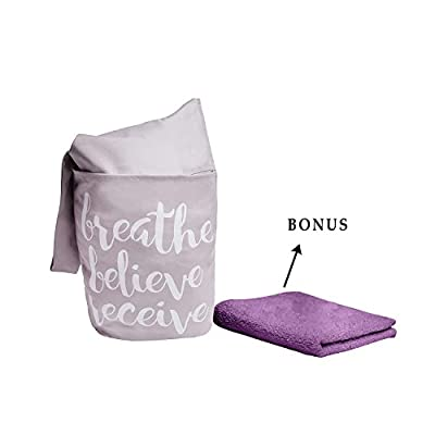 Yoga Mat Bag by Shantarams - FREE BONUSES - SMALL TOWEL + Yoga exercise eBook included /Sling Tote Bag with side pocket and zipper pocket
