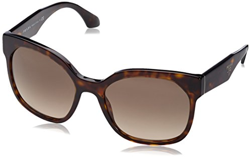 Prada Women's Sunglass 0PR 10RS Havana/Grey - Sunglasses Prada Butterfly
