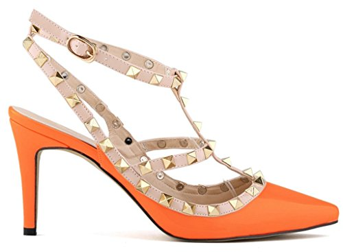 Fangsto Femme Orange Compensées sandals Sandales Heeled RwqrR8T