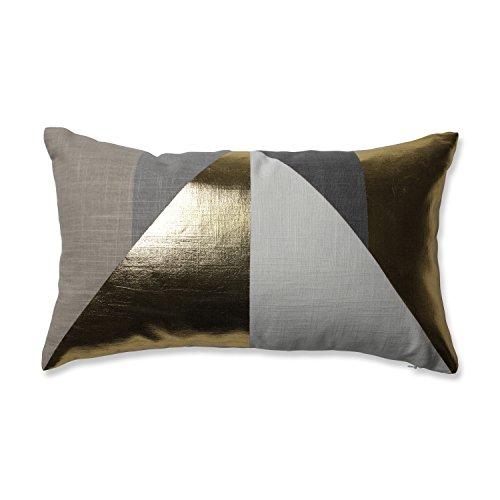 Pillow Perfect 602042 Avalon Gold Rectangular Throw Pillow