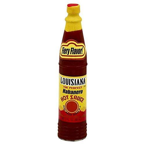 Louisiana Brand Habanero Hot Sauce 3.0 OZ(Pack of 3) by Louisiana