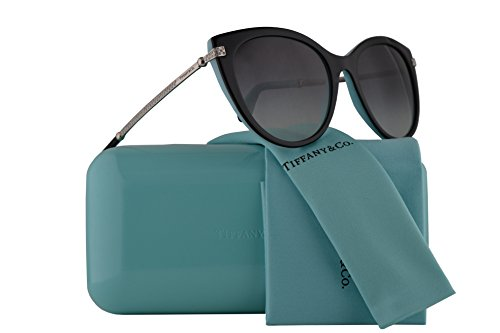 Tiffany & Co. TF4143B Sunglasses Black Blue w/Grey Gradient Lens 55mm 80553C TF4143-B Tiffany&Co. TF 4143B TF - Ophthalmic Frames Tiffany